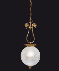 Sospensione 2 luci in fusione artistica - Gold Light and Crystal - Arredo Luce