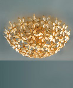 Plafoniera 6 luci vetro di Murano - Sweet Flower