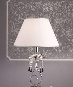 Lume 1 luce cristallo Swarovski Jet, con paralume - Fashion Crystal - Arredo Luce (Fashion Crystal)