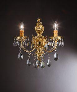 Applique 2 luci in fusione artistica - Monica & Miluna - Arredo Luce (Monica & Miluna)