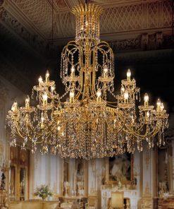 Lampadario 38 luci Luxury Crystal