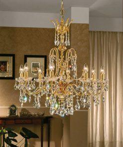 Lampadario 8 luci Luxury Crystal - Arredo Luce