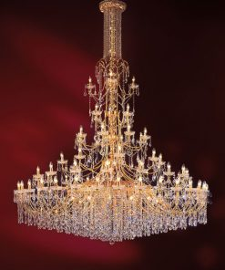 92-light chandelier gold and crystal - 702/92 - Luxury Crystal - Arredo Luce