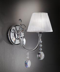 Applique 1 luce pendagli in cristallo - Miluna - Arredo Luce (Miluna)