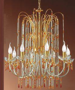 Lampadario 8 luci - Royal Crystal - Arredo Luce
