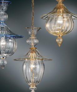 sospensione 1 luce - 1032/38 - vetrilamp