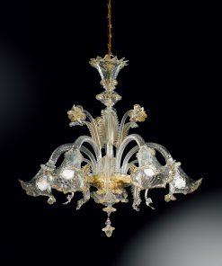 Lampadario 5 luci - 87/5- Vetrilamp Lucilla
