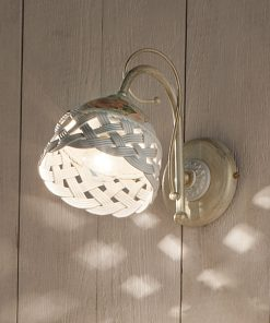 Applique in Ceramica Lucida C960 Decorata prodotta artigianalmente, c960, Verona, ferroluce