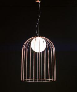 Sospensione 1 luce - ruggine- art.1095- - Selene Kluvì