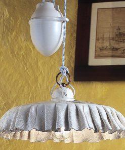 Sospensione saliscendi in Ceramica Lucida Decorata - C905 - Modena- ferroluce - prodotta artigianalmente
