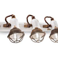 applique 3 luci serie loft C16771/1 ferroluce retro