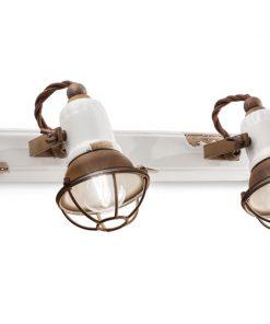 applique 2 luci con gabbia - C1676/1- VIB loft collection , C1676/1 ferroluce retro