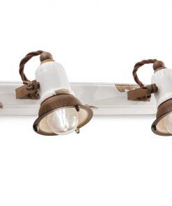 applique 2 luci , c1676 (VIB) loft collection di ferroluce retro