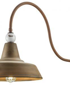 Applique 1 luce Grunge- C1602- Ferroluce Retrò