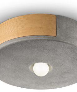 plafoniera 1 luce - cemento (CEM)- 1790 MATECA - FerroLuce Retrò -Lucilla