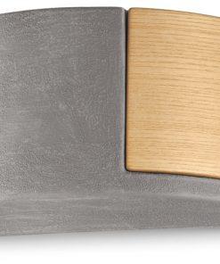 Applique 1 luce - cemento (CEM) - C1795/27 MATECA - FerroLuce Retrò -Lucilla