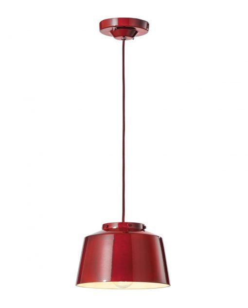 Sospensione 1 luce - C2000 - Bordeaux - Ferroluce Retrò su Lucilla
