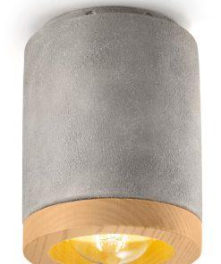 plafoniera 1 luce - cemento (CEM) MATECA - FerroLuce Retrò -Lucilla