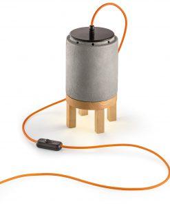 Lumetto 1 luce - cemento (CEM) - C992 - MATECA - FerroLuce Retrò -Lucilla