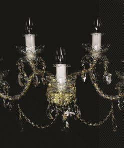 Applique 5 luci - De Luxe 5 gold - Wranovsky