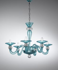 vetrilamp - 1154/6 - Lampadario 6 luci vetro di Murano