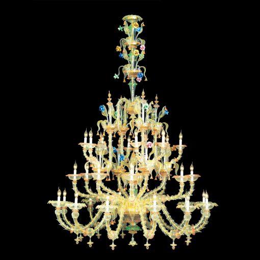 Lampadario 28  luci Classic Collection - 6003/12+8+8  Arte di Murano