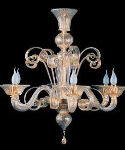 Lampadario 6 luci Classic Collection - 6233/6 - Arte di Murano