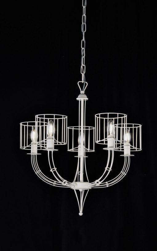 Sospensione 5 luci - bianco Rialto - Metal lux 257.155.04