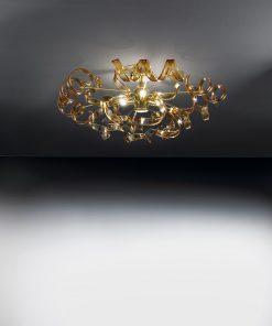 plafoniera 3 luci 205.340 ambra - Metal Lux - Astro - Lucilla