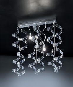 Sospensione 2 luci - cromo - trasparente - Astro - Metal Lux - Lucilla- 206.232.01