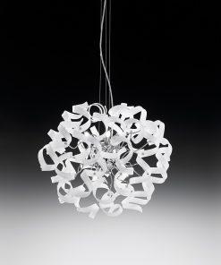 Sospensione 6 luci - cromo -bianco - Astro - Metal Lux - Lucilla 206.150.02