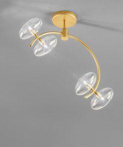 Plafoniera 4 luci in cromo satinato - 260.304 -  collezione Dolce di Metal Lux