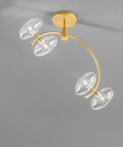 Plafoniera 4 luci in  oro satinato - 261.304 -  collezione Dolce di Metal Lux