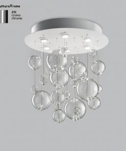 Plafoniera 6 luci base acciaio inox - 251.360 - Bolero - Metal Lux
