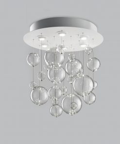 Plafoniera 6 luci base verniciata  bianca - 252.360 - Bolero - Metal Lux
