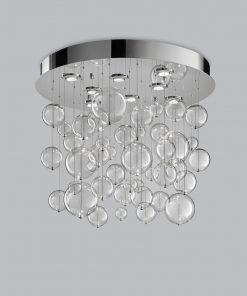 Plafoniera 8 luci base acciaio inox - 251.380 - Bolero - Metal Lux