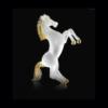 Cavallo  satinato e oro - Arte di Murano