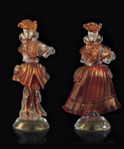Goldoniani rosso e oro - Arte di Murano