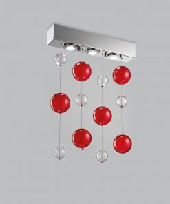 Plafoniera 3 luci base acciaio inox - 253.503 - Bolero - Metal Lux