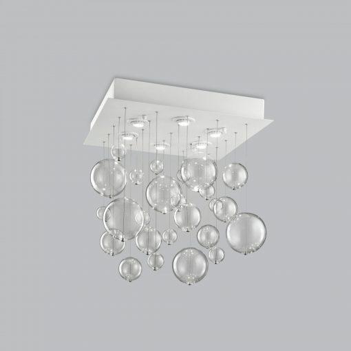 Plafoniera 6  luci base verniciata bianca- 254.360 - Bolero - Metal Lux
