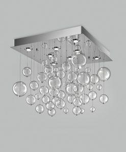 Plafoniera 8 luci  base acciaio inox - 253.380 - Bolero - Metal Lux