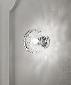 Applique in cromo lucido con vetro trasparente 1 luce - 6469 TR - Perenz
