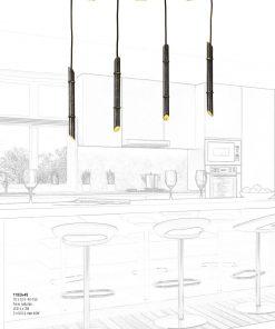 Arteluce - Sospensione LED 7 luci - Bamboo - 118/3+4S