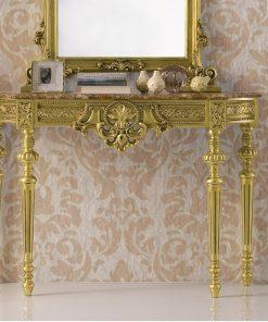 Consolle classica foglia oro