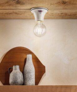 plafoniera ceramica decorata
