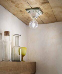 square ceramic ceiling light