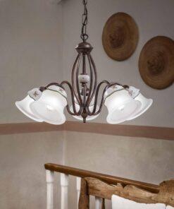 5-light chandelier in rustuc style
