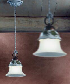 1-light pendant lamp- rustic