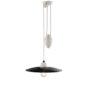 black pendant lamp with sliding system