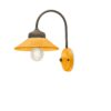1-light sconce made of ceramic yellow